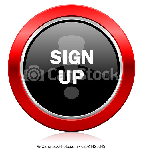 sign up icon - csp24425349