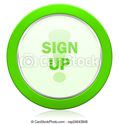 sign up icon - csp24643848