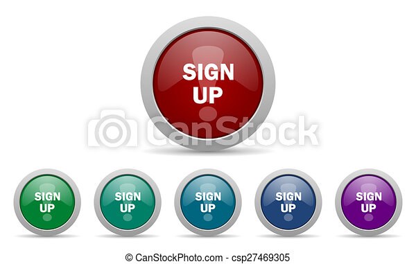 sign up icon - csp27469305