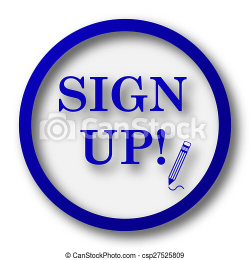 Sign up icon - csp27525809