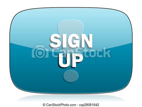 sign up icon - csp28081642
