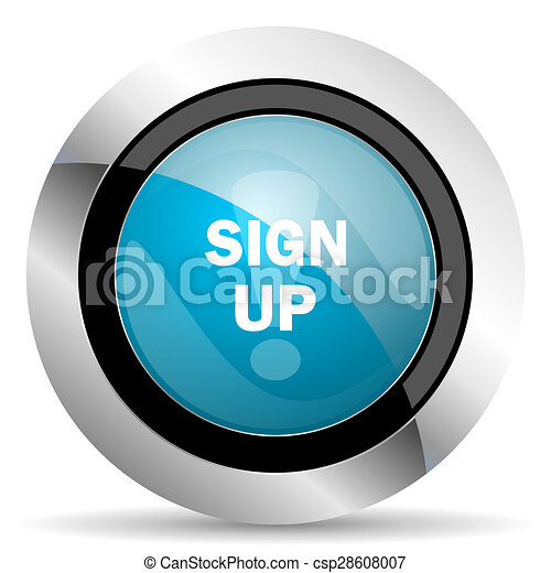 sign up icon - csp28608007
