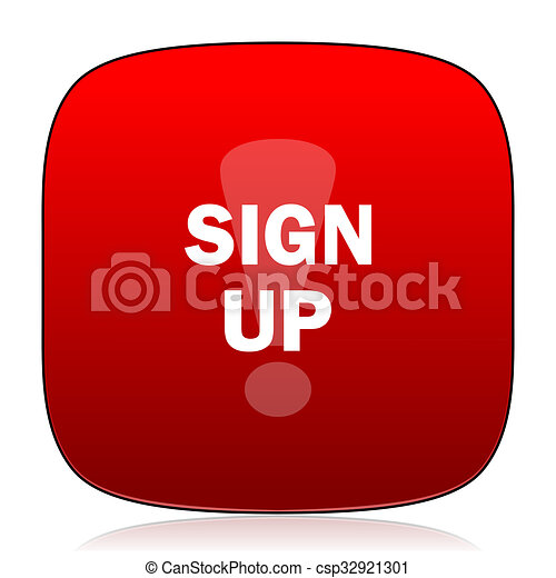 sign up icon - csp32921301