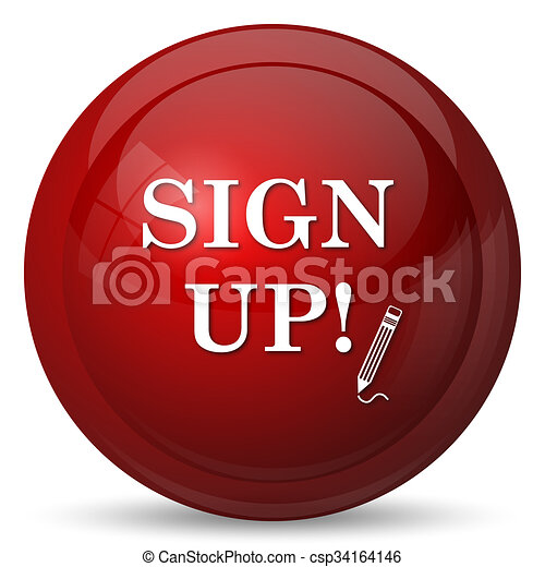Sign up icon - csp34164146