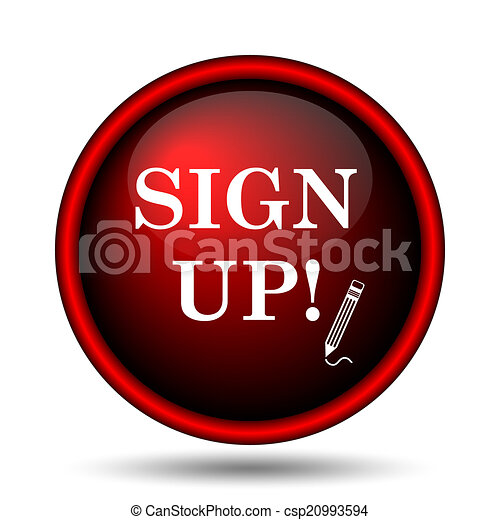 Sign up icon - csp20993594
