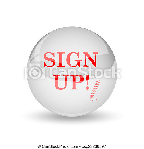 Sign up icon - csp23238597