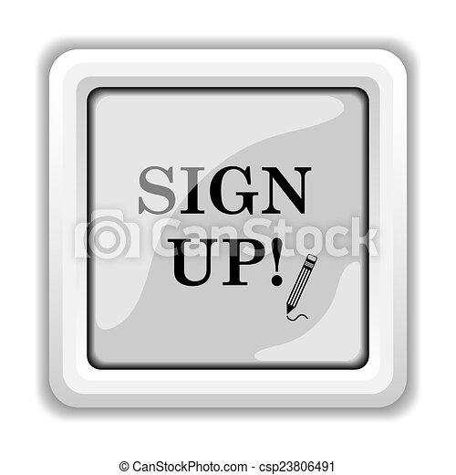 Sign up icon - csp23806491