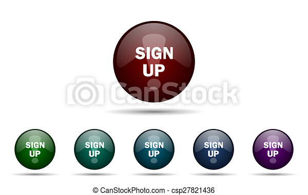 sign up icon - csp27821436