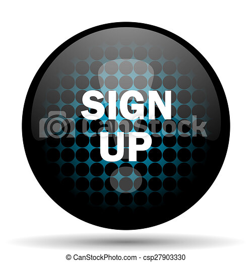 sign up icon - csp27903330