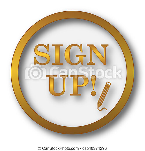 Sign up icon - csp40374296