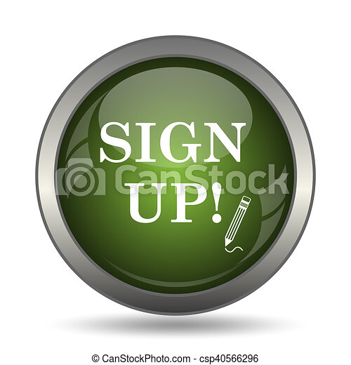 Sign up icon - csp40566296