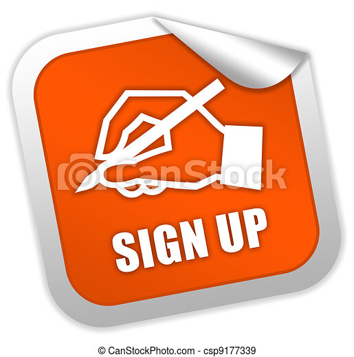 Sign up icon - csp9177339