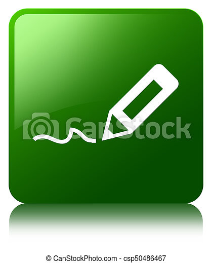 Sign Up Icon Green Square Button Sign Up Icon Isolated On Green