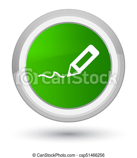 Sign up icon prime green round button - csp51466256