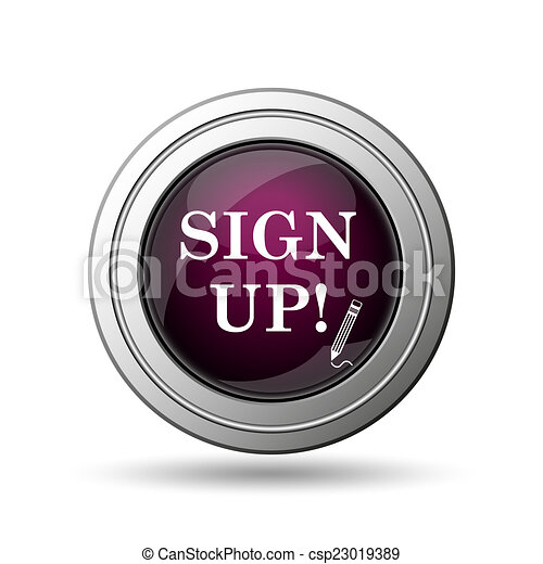 Sign up icon - csp23019389