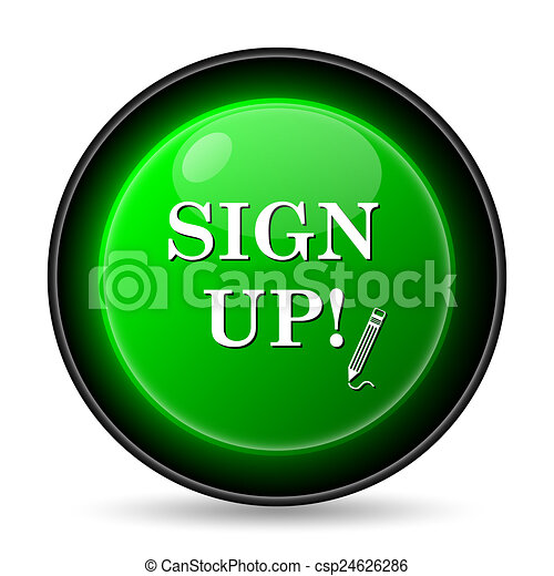 Sign up icon - csp24626286