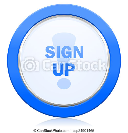 sign up icon - csp24901465