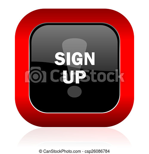 sign up icon - csp26086784