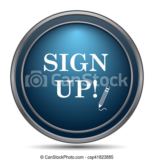 Sign up icon - csp41823885