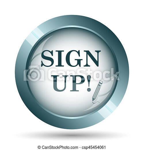 Sign up icon - csp45454061