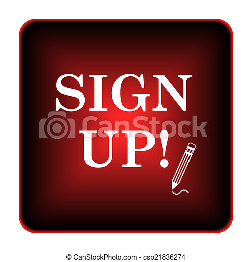 Sign up icon - csp21836274