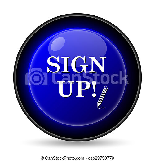 Sign up icon - csp23750779