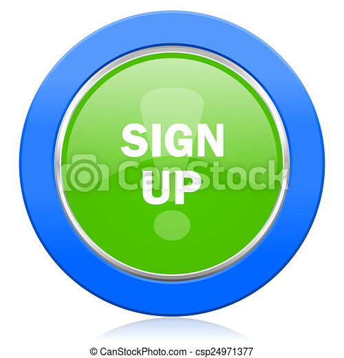 sign up icon - csp24971377
