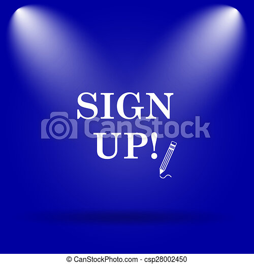 Sign up icon - csp28002450