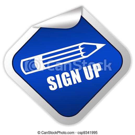 Sign up icon - csp9341995