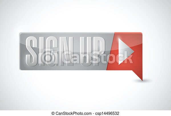 sign up now button illustration design - csp14496532