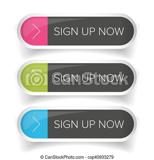 Sign Up Now button set - csp40933279