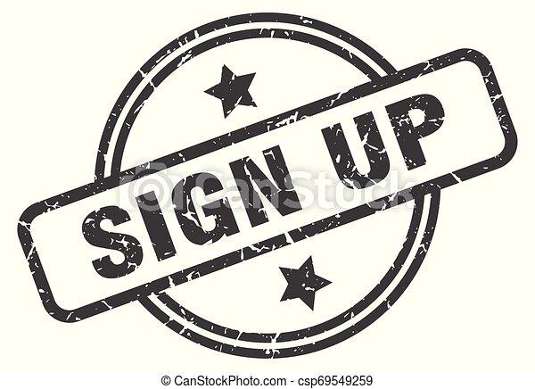sign up stamp - csp69549259