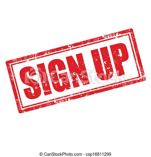 Sign Up-stamp - csp16811299