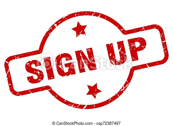 sign up stamp - csp72387497