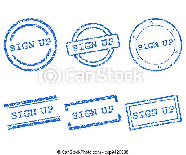 Sign up stamp - csp9420338