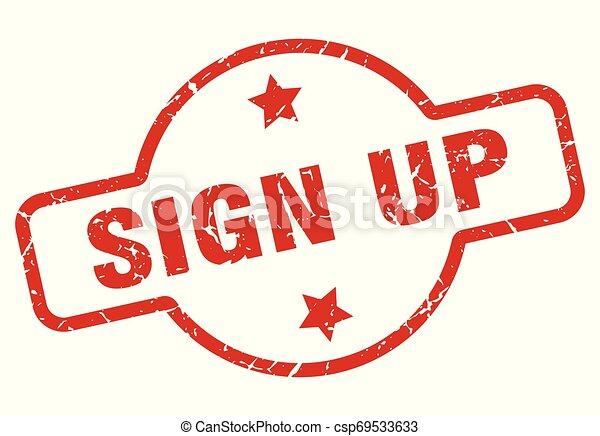 sign up stamp - csp69533633