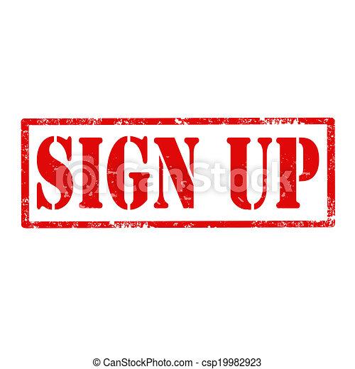 Sign Up-stamp - csp19982923