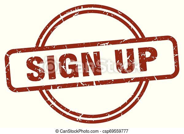 sign up stamp - csp69559777