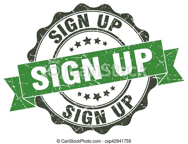 sign up stamp. sign. seal - csp42941759