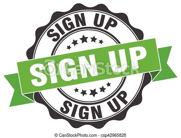 sign up stamp. sign. seal - csp42965828