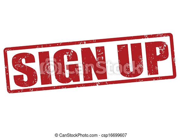 Sign up stamp - csp16699607