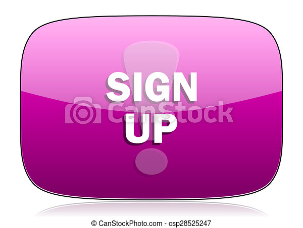 sign up violet icon - csp28525247