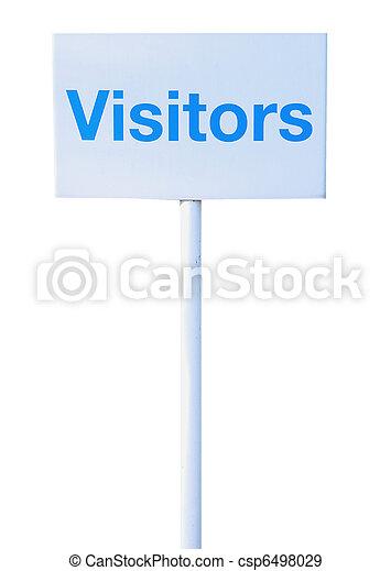Sign visitors - csp6498029