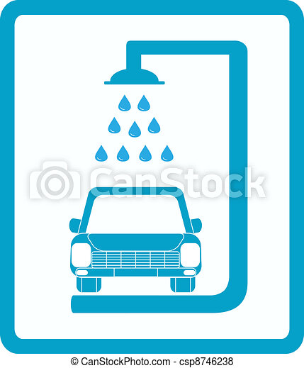 sign with car wash - csp8746238