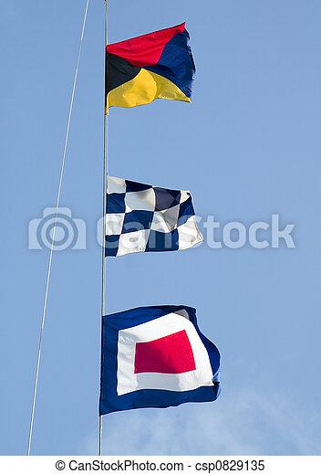 Seesignalflaggen - csp0829135
