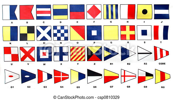 Schiffssignal Flaggen