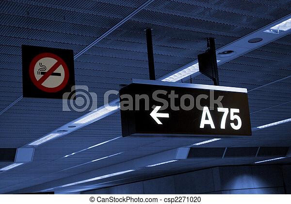 signboard and smoking forbidden sigh - csp2271020