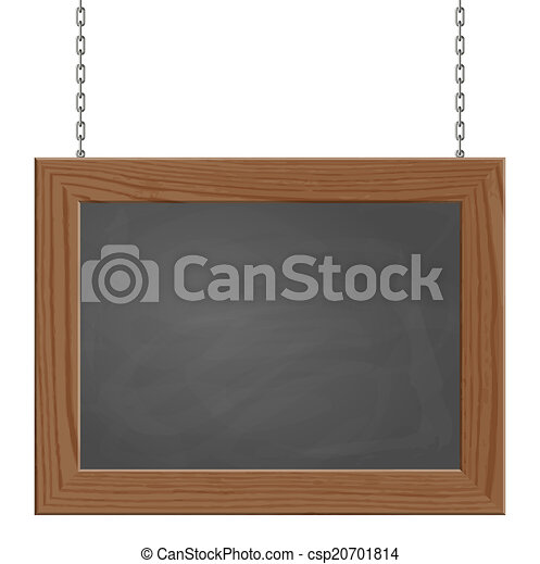 Signboard hanging on chains - csp20701814