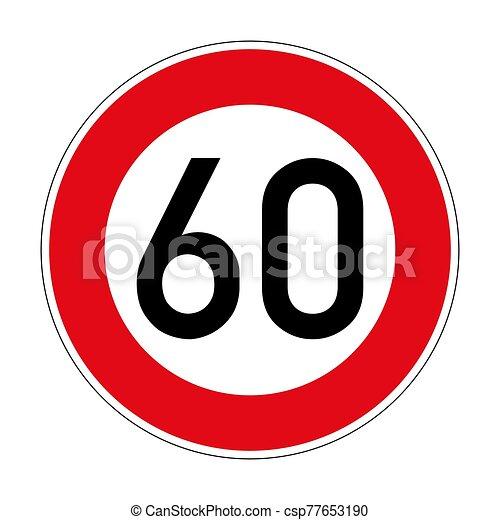signe, 274, limite, route, vitesse, allemand - csp77653190