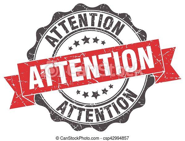 signe., attention, stamp., cachet - csp42994857
